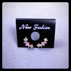 Gold-tone studded earrings